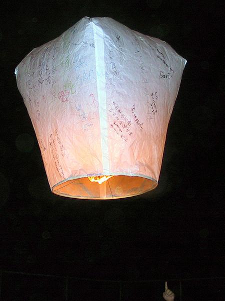 Как сделать летающий китайский фонарик из бумаги