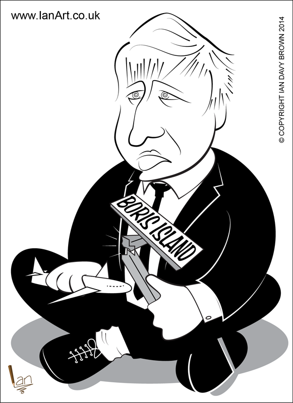 Boris Johnson Boris Island cartoon caricature
