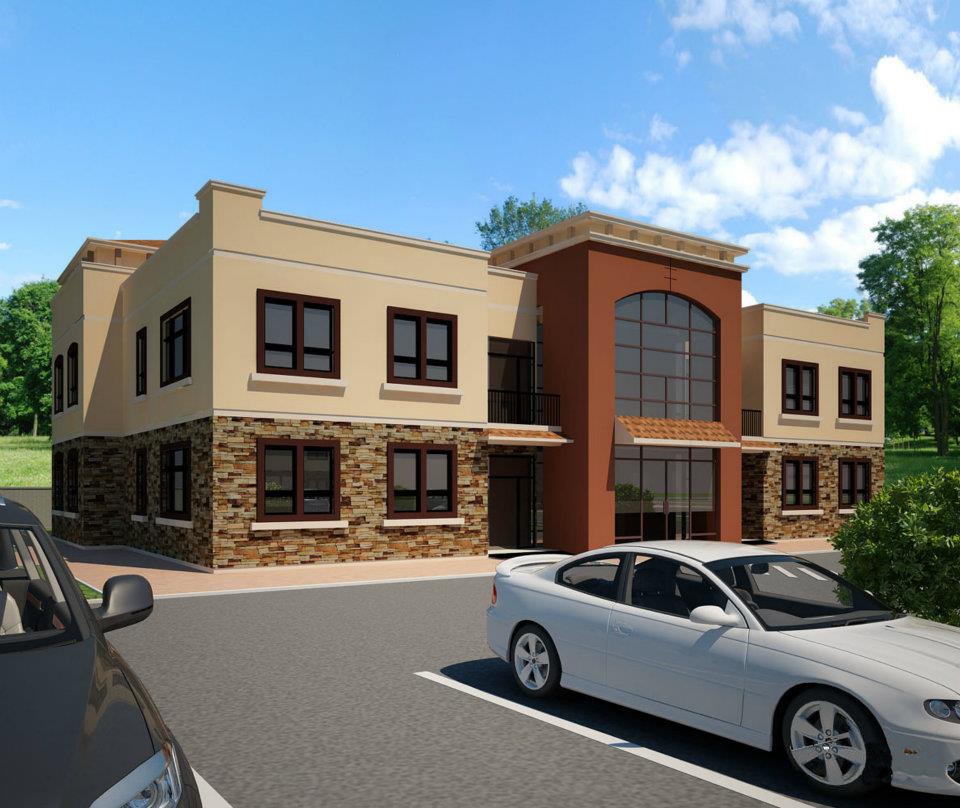 Front Elevation Of Office Building : Front elevation of shops joy studio design