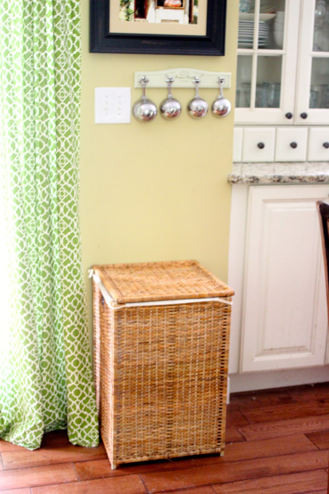 pet food storage in an Ikea wicker h&er via .goldenboysandme.com & Golden Boys and Me: Pet Food Storage