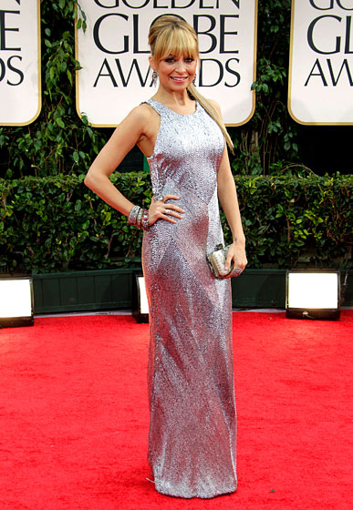 Nicole+Richie+Golden+Globe+awards+silver+gown