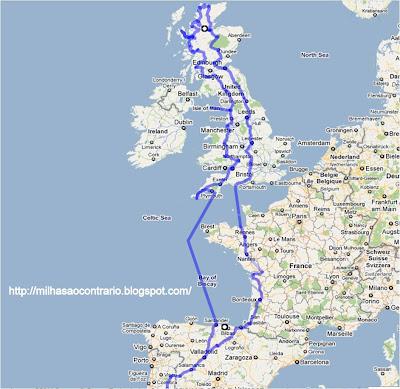 - Milhas ao Contrário - Uma viagem pela Escócia e Ilha de Man Rota+total+1