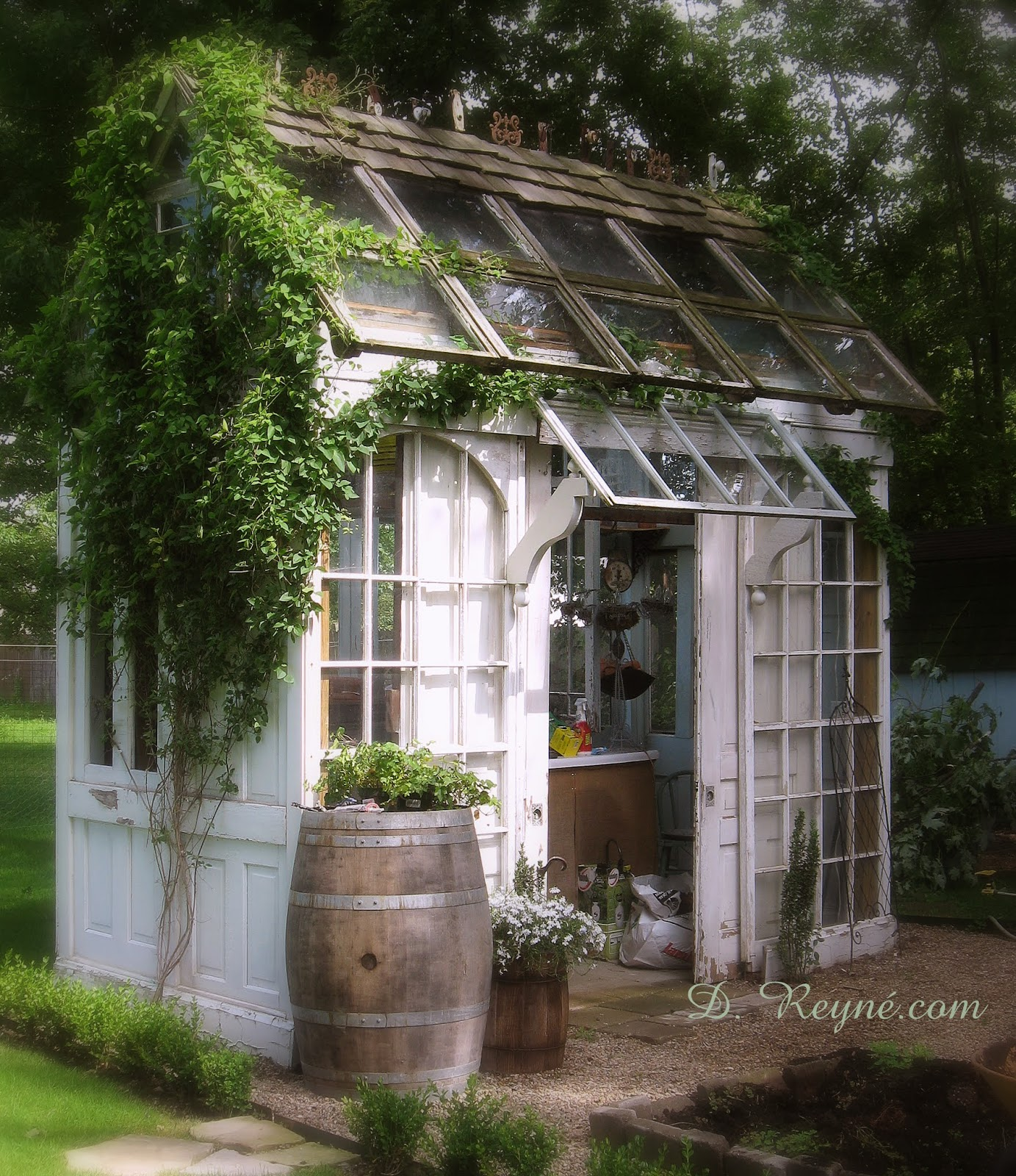 Old garden house - Tinkerhouse Trading Company Garden Inspired Living