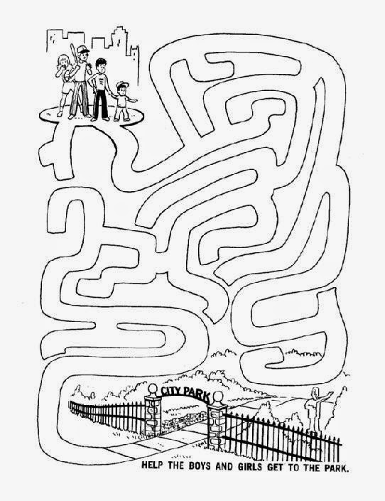 maze activity sheet pages kids park challenging maze activity - Kids Activity Printables