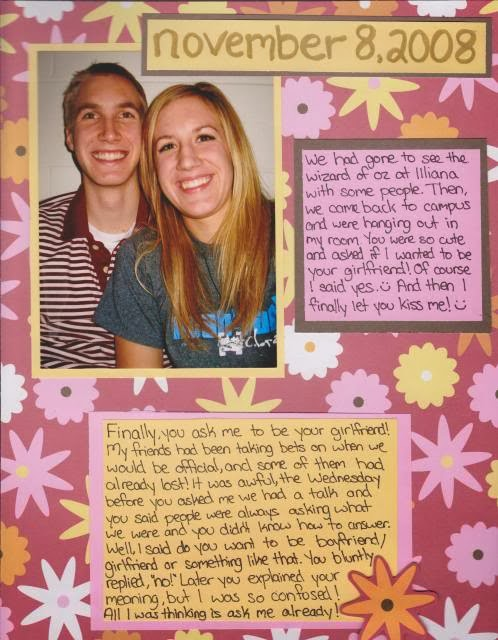 first year dating scrapbook
