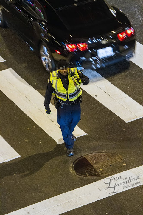365 photo project, Atlanta police officer traffic control, Lisa On Location photography