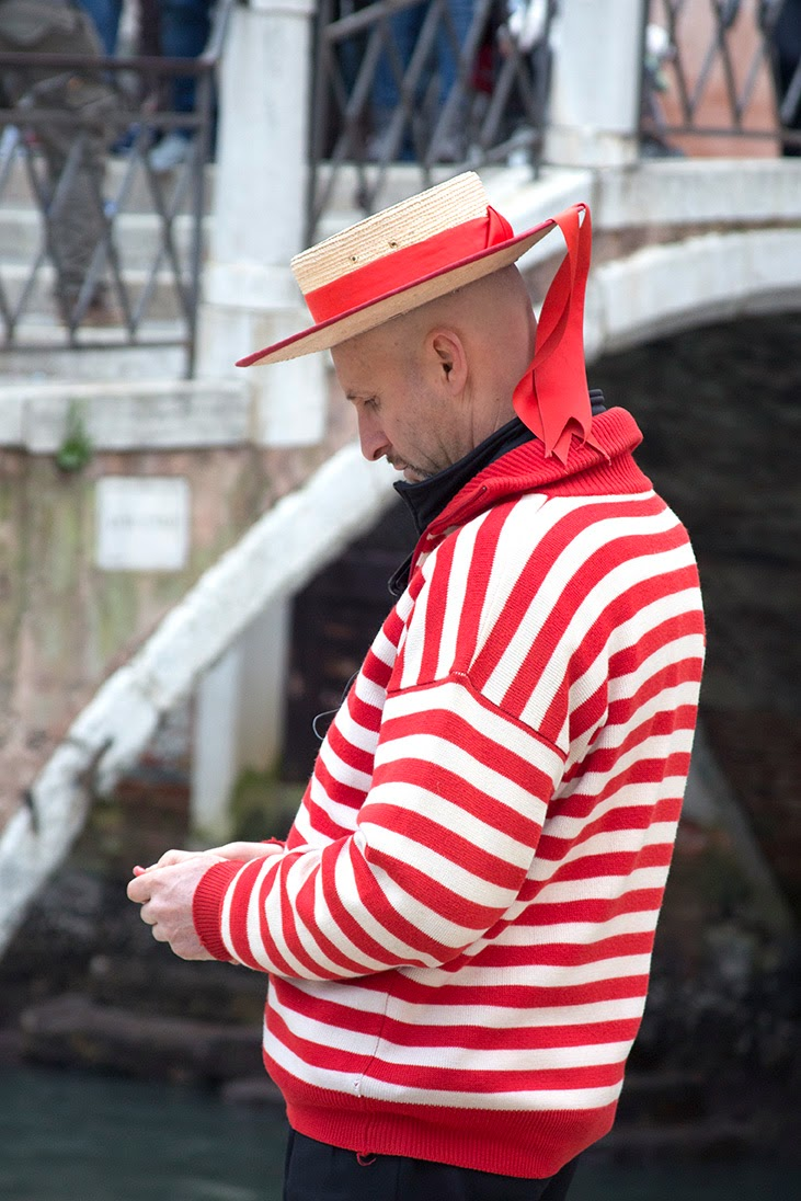 red striped gondolier