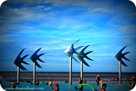 Fish Sculpture at The Lagoon on The Esplanade Cairns, Australia