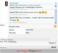 shoutbox untuk blog