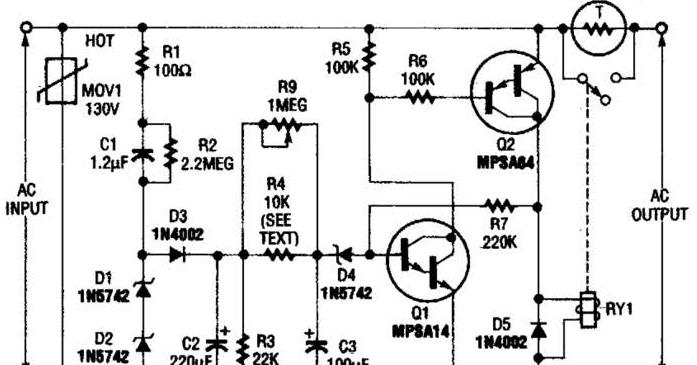 inrush current limiter wiring diagram schematic