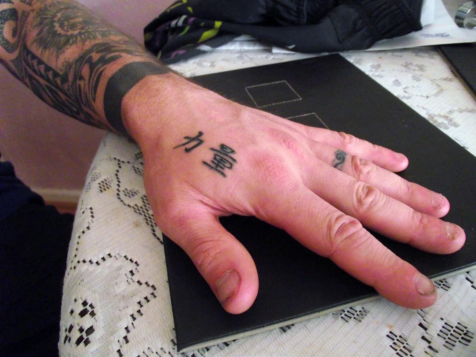 Steve Richings Tatfolio Self Tattoo Chinese Hand Symbols