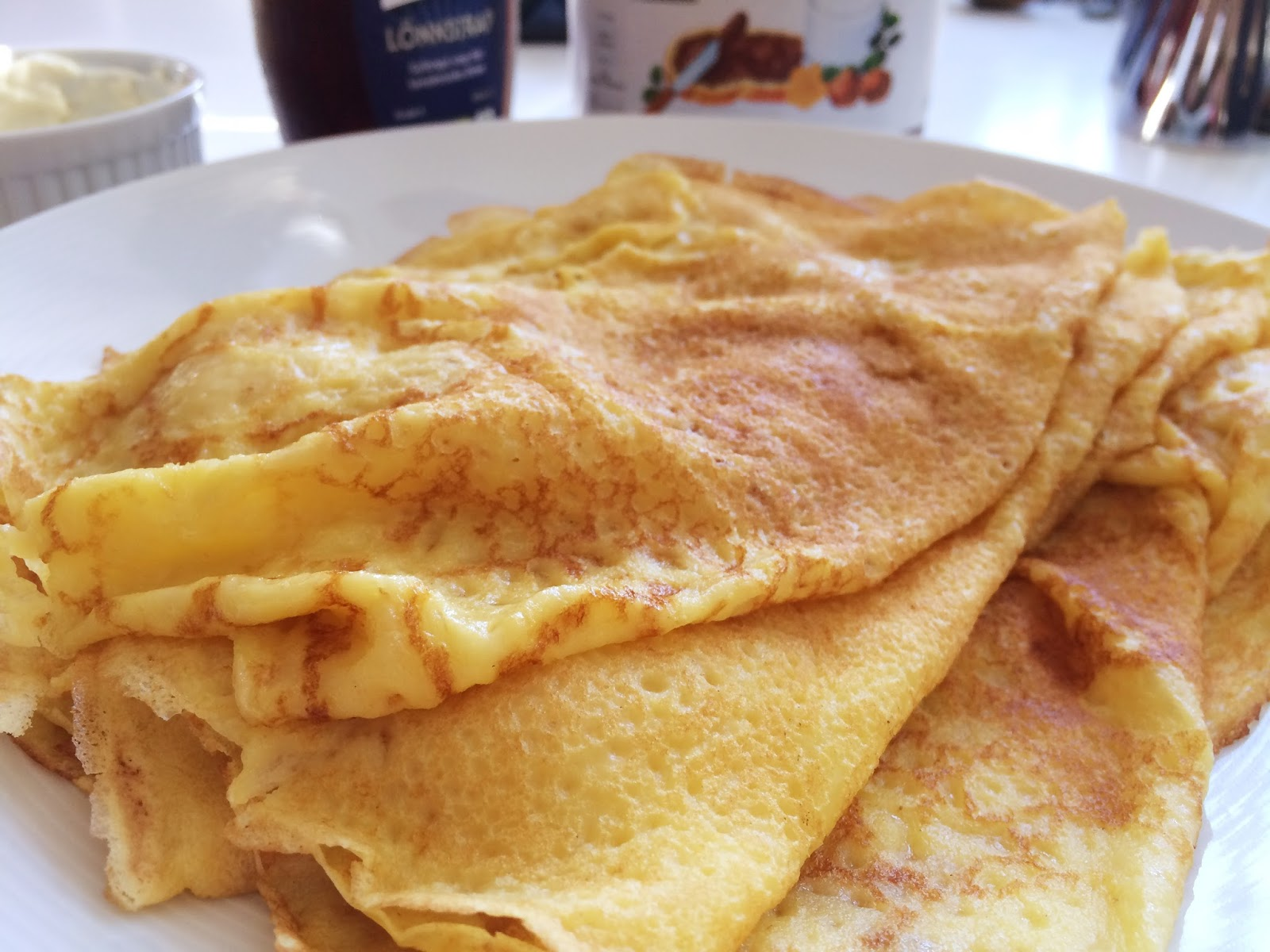 pannkakor majsmjöl ägg