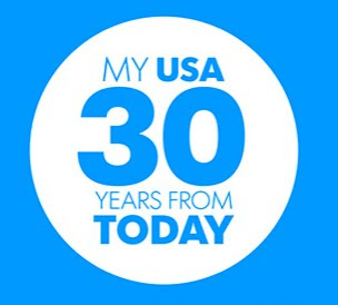 An image saying 'My USA 30 Years From Today.