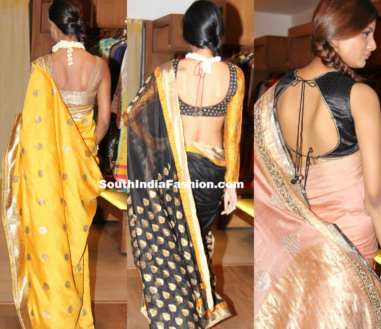 the gallery for gt designer blouses for sarees by ritu kumar