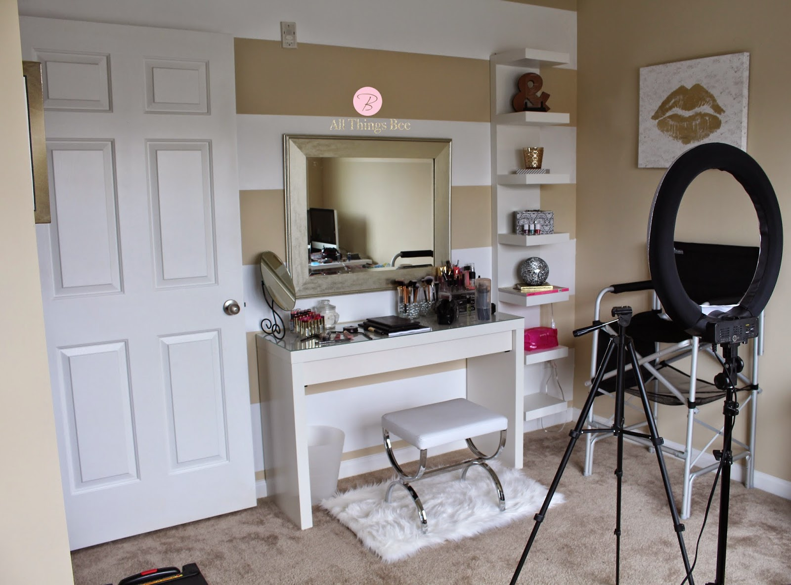 Diy Vanity My Beauty Inspired Office Allthingsbee