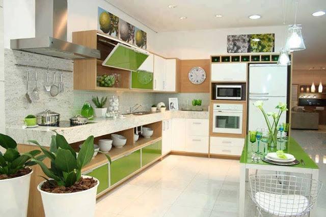 Construindo Minha Casa Clean Cozinha em Laca ou MDF? Modernas e Lindas!! # Armario De Cozinha Verde E Branco
