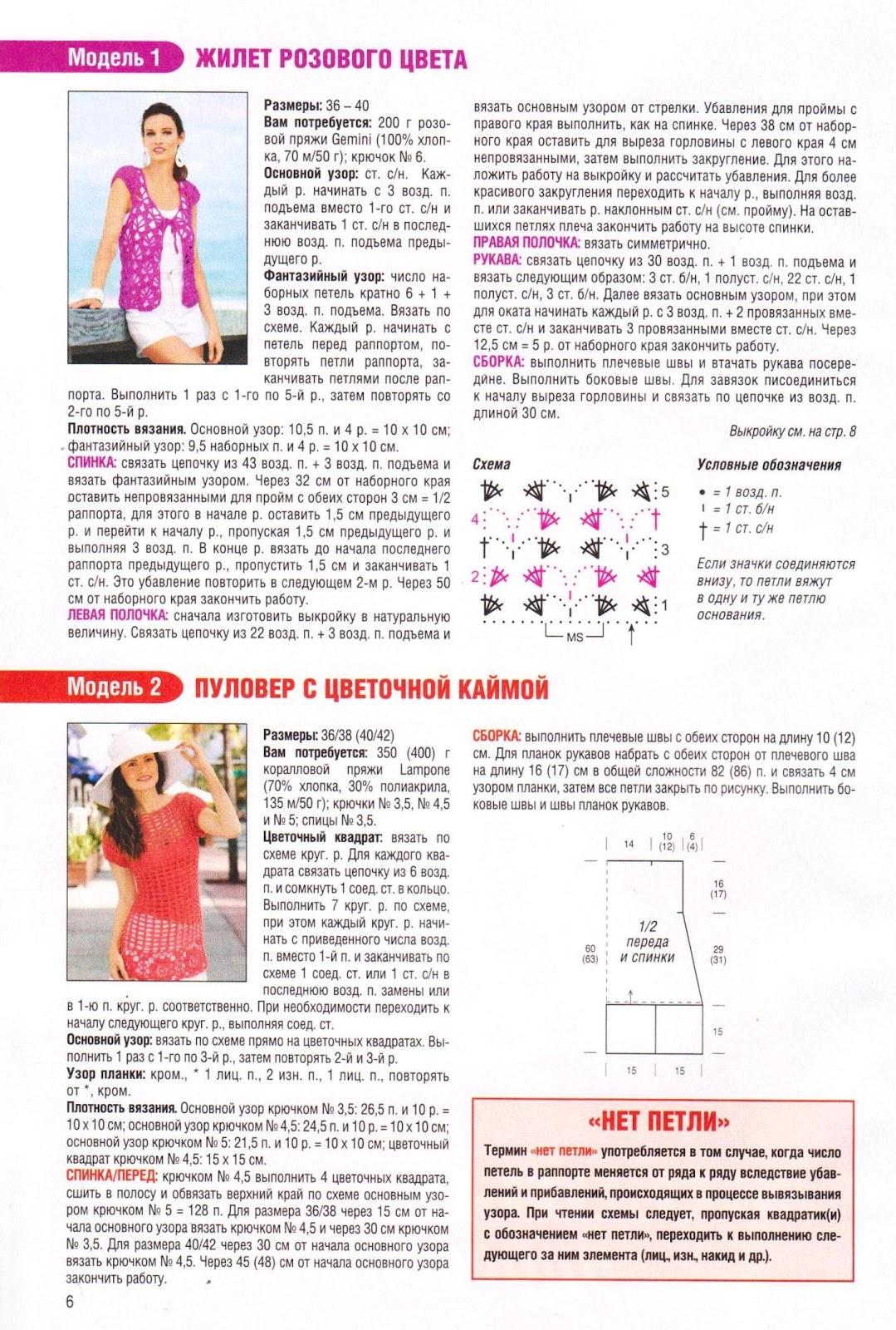 Журнал Маленькая Диана - Описание вязания, схемы 73