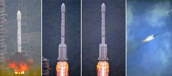 Chinska rakieta geocentryczna wynosi francuskiego satelite na orbite