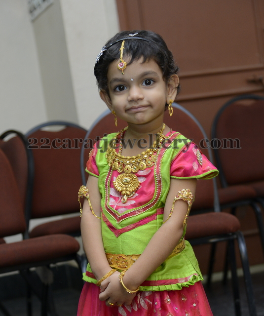 Baby in Malabar Gold Necklace