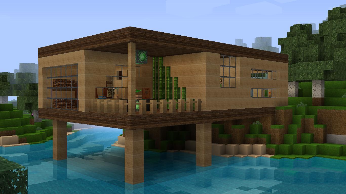 Minecraft casa 73 - La casa de la madera ...