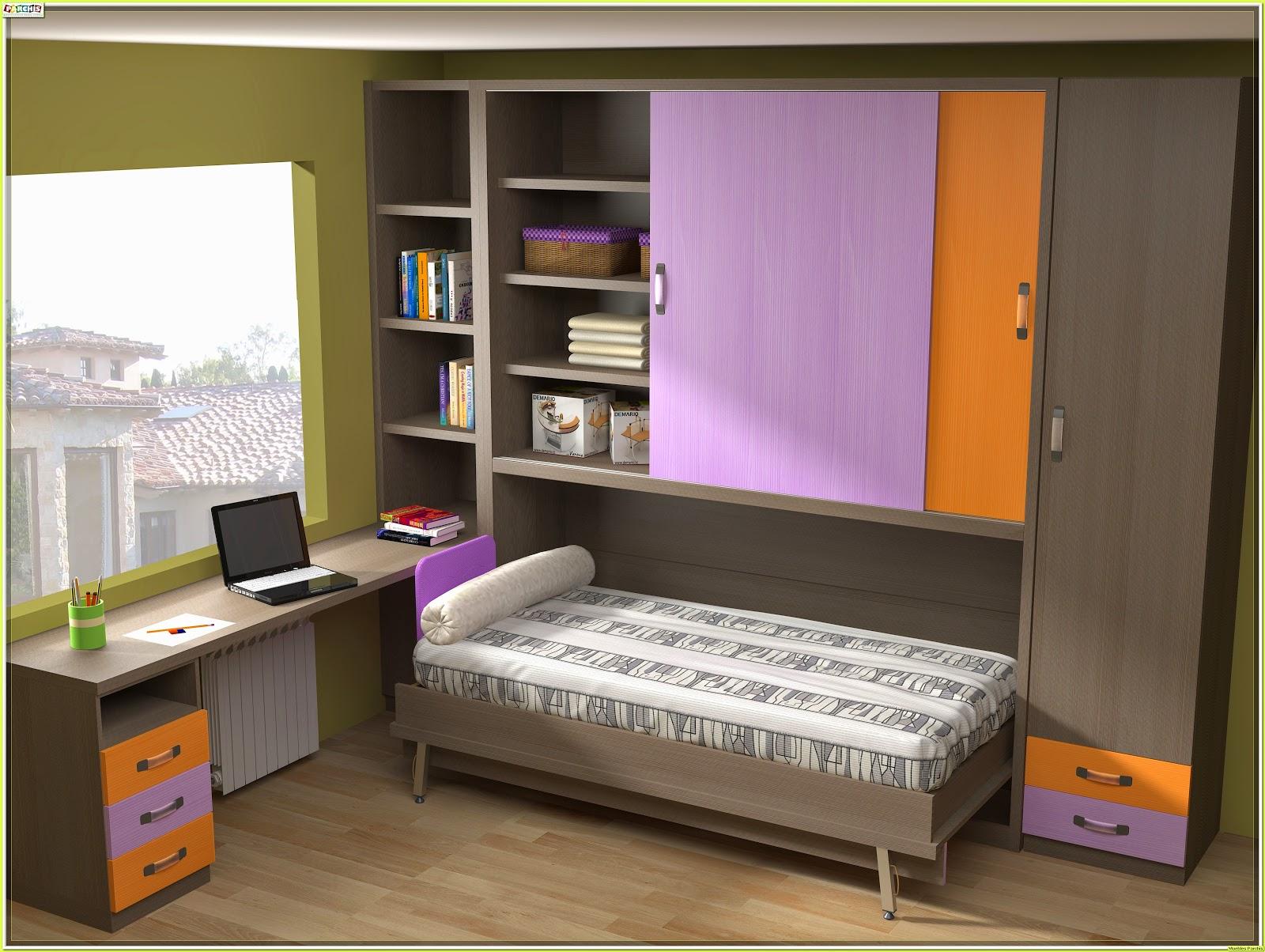 Cama mesa abatible camas autoportantes camas abatibles - Cama empotrada en armario ...