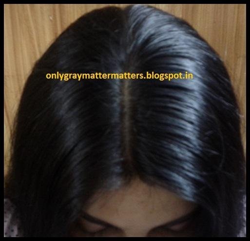 Mehndi Indigo For Hair : Gray hair fully covered with henna and indigo