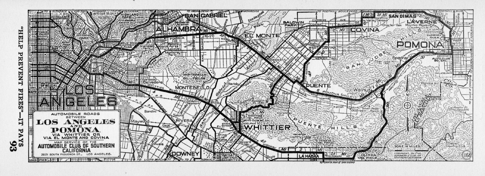 street map of los angeles california