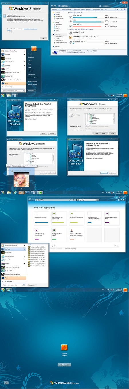 Download Windows 8 Skin Pack untuk Windows 7