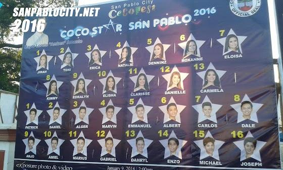 Coco Star San Pablo 2016 Candidates