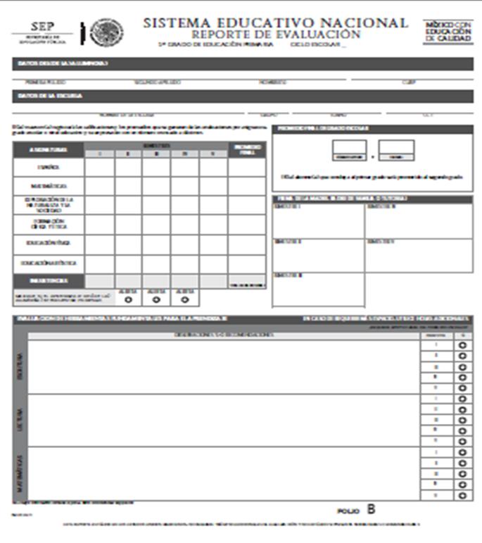 Descargar Reporte de Evaluación 2014 para Primer Grado