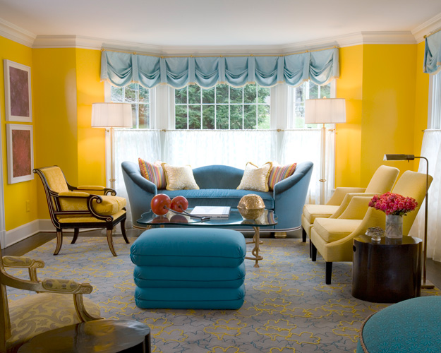 Prairie perch may 2011 for Blue and yellow living room ideas