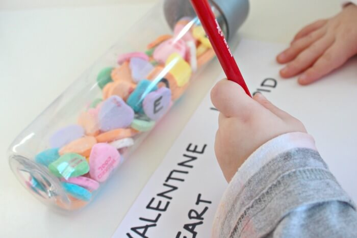 Alphabet Discovery Bottle Valentines Day Activity for