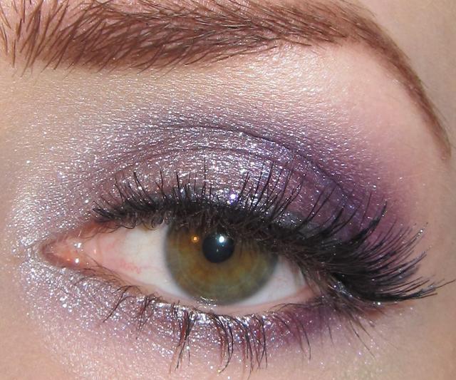 Silver Purple Eye Makeup Look + Picture Tutorial