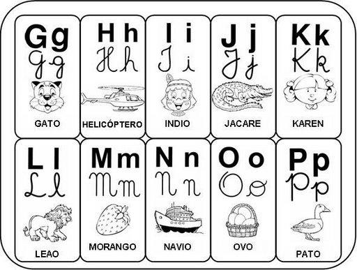 Alfabeto para imprimir - Atividades de Alfabetização