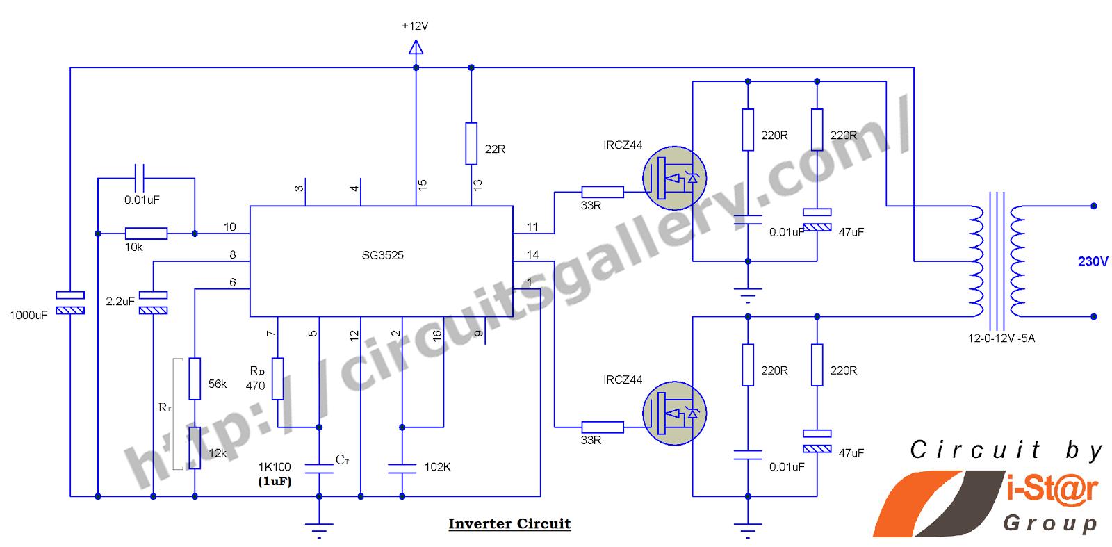 Circuit Diagram Inverter 3000wattpowerinvertercircuitdiagram13gif The Krell Lab 100 Watt Schematic Using Pulse Width