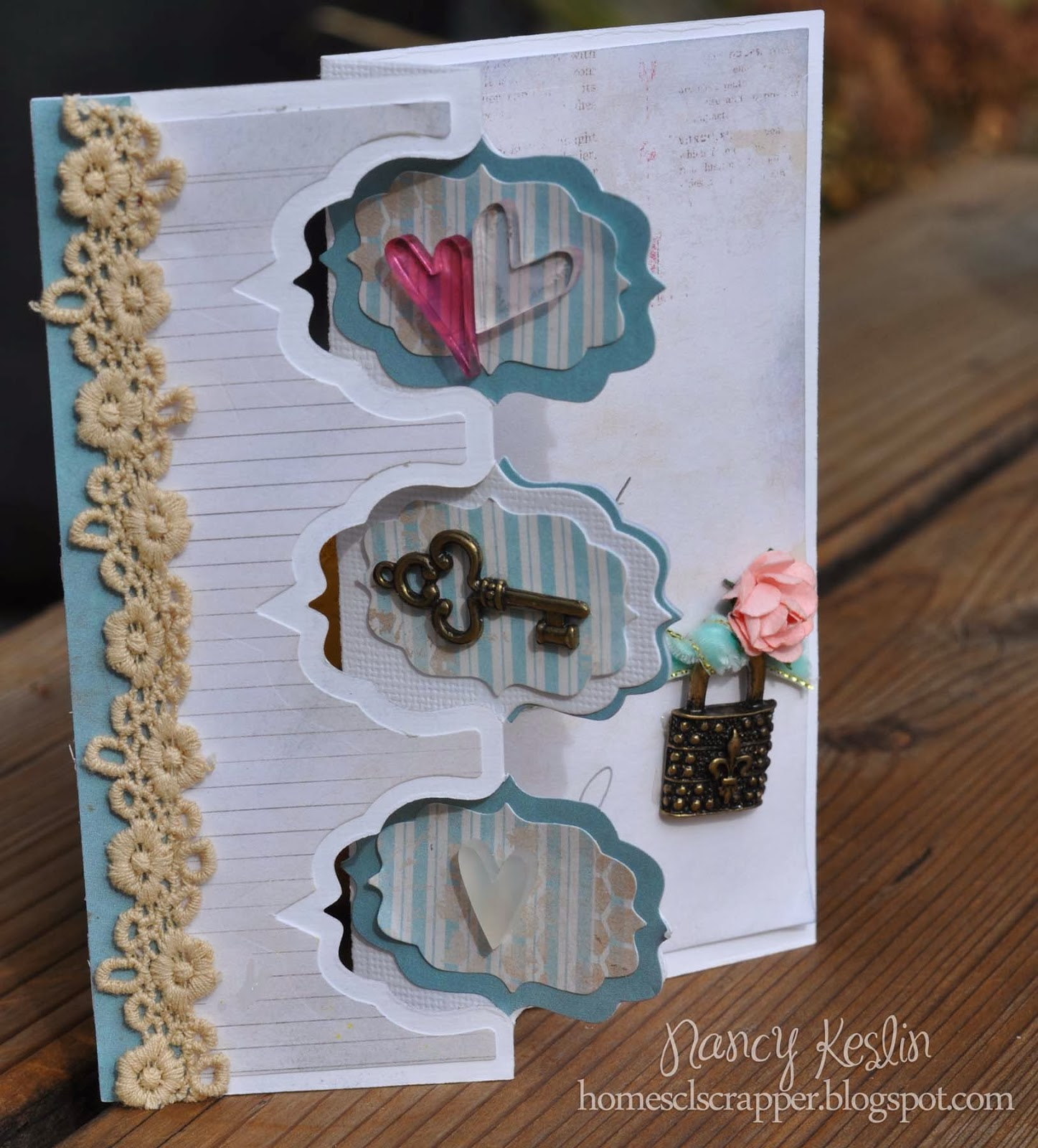card, handmade, sizzix, valentine, your memories here, glitz