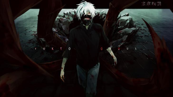 tokyo ghoul anime ken kaneki mask red eye blood