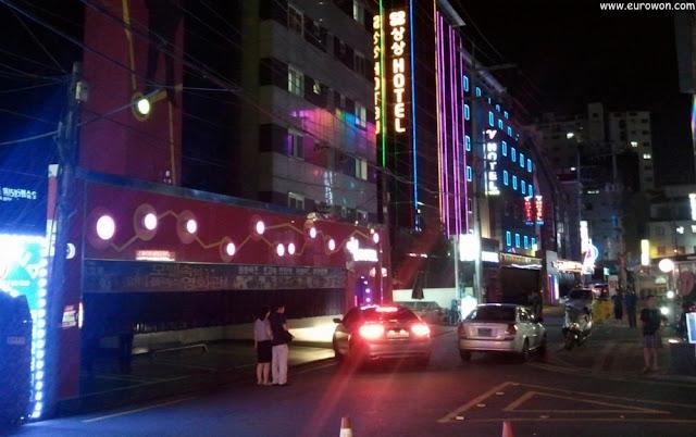 Zona de moteles en Seúl
