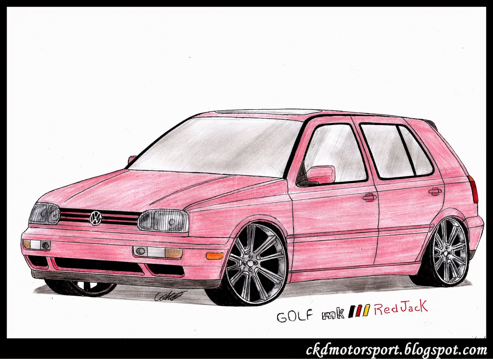 ckd motorsport volkswagen golf mk3 red jack