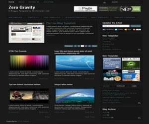 Zero Gravity Blogger Template