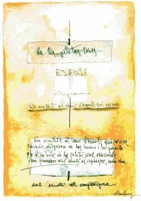 Aquarel·la inspirada en el poema 'Espai' (Josep Montmany)