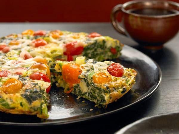 Spinach-Tomato Frittata -> Recipe In Article