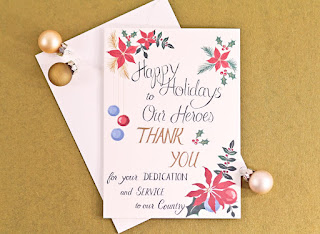 Christmas card message to soldier