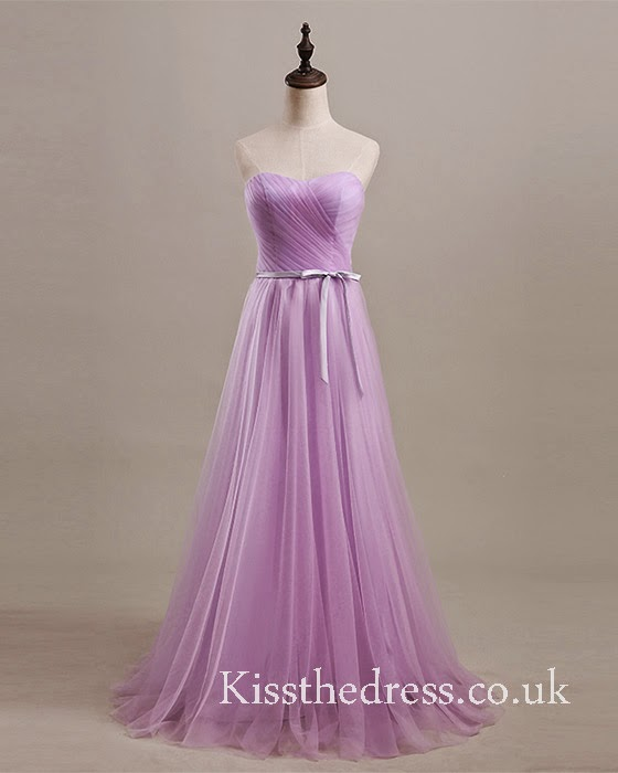 purple long bridesmaid dress