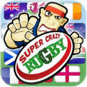 Super Crazy Rugby Icon Logo