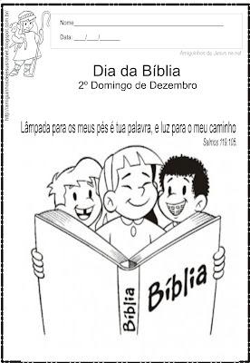 Atividade para colorir - Dia da Bíblia