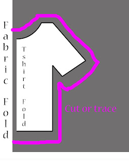 Make your own t-shirt pattern by tracing a t-shirt