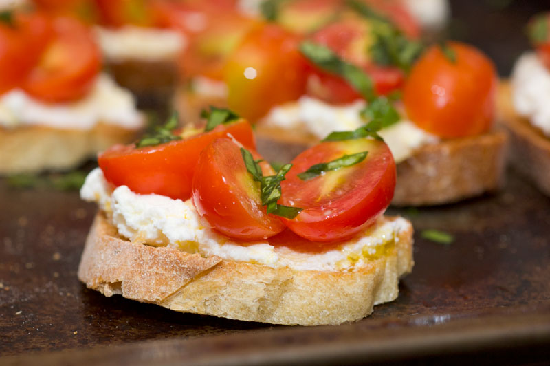 ... Spice by Celeste: Cherry Tomato Crostini with Ricotta - David Tanis