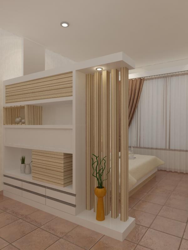 Desain Rak Buku Pembatas Ruangan - Rumah Minimalis Modern