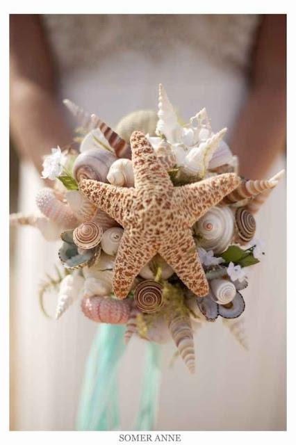 Ramo de novia para bodas en la playa - Foto: Pinterest